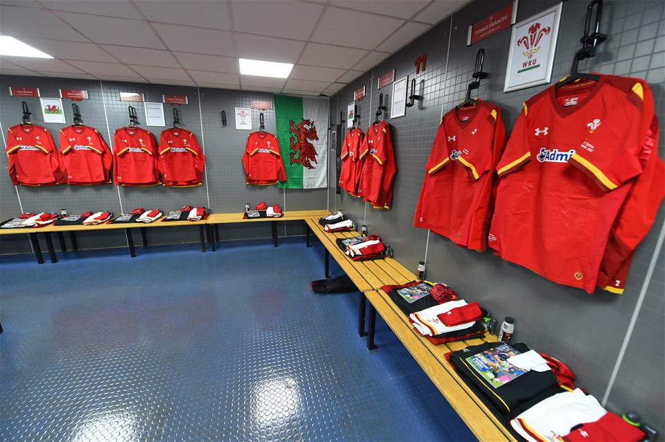 25.02.17 - Scotland v Wales - RBS 6 Nations 2017 -Wales dressing room.