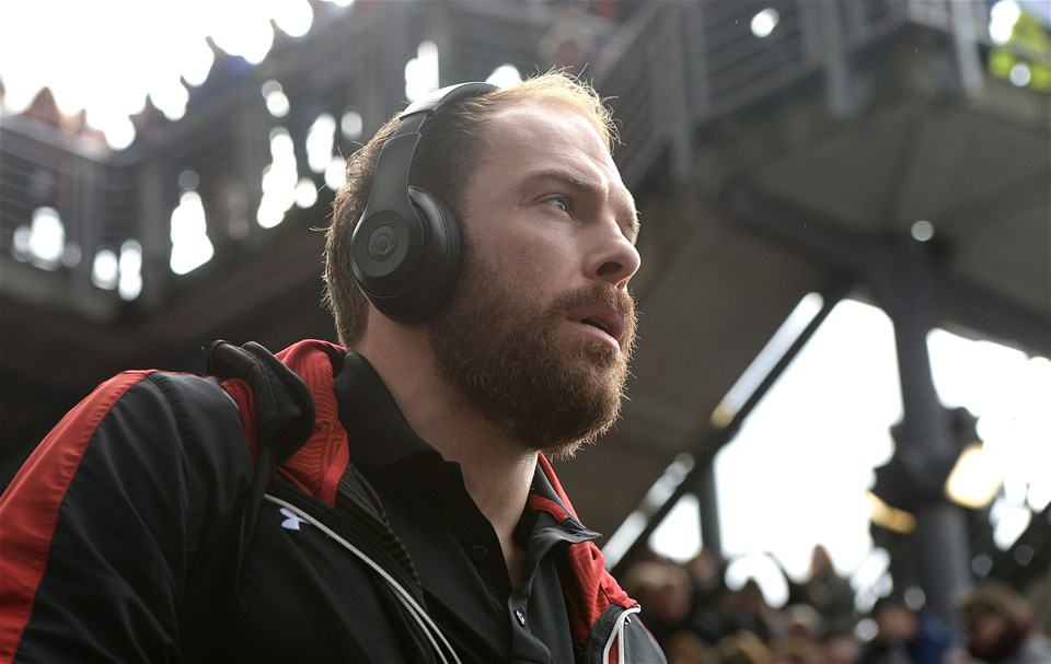 25.02.17 - Scotland v Wales - RBS 6 Nations 2017 -Alun Wyn Jones of Wales arrives.