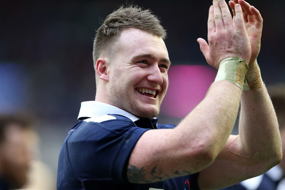 25.02.17 - Scotland v Wales - RBS 6 Nations Championship - Stuart Hogg of Scotland celebrates at full time.