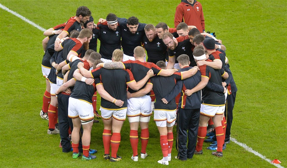 10.03.17 Wales v Ireland - RBS 6 Nations - Wales Pre Match Huddle.