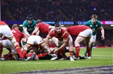 10.03.17 - Wales v Ireland - RBS 6 Nations Championship - Round Four - Rhys Webb of Wales gets the ball away